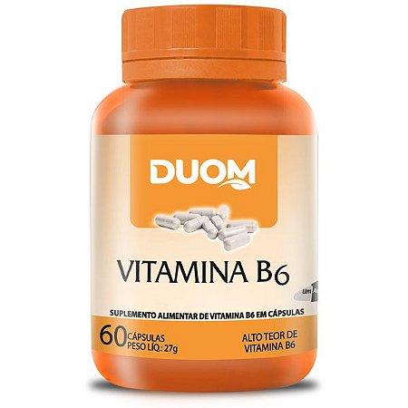 Vitamina B6 (1 ao dia) 60caps Duom