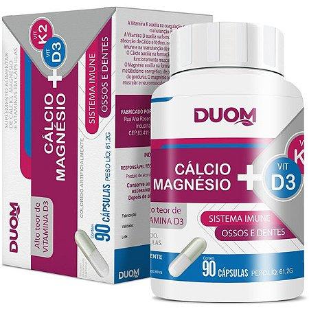 Cálcio + Magnésio + Vitamina K2 + Vitamina D3 90caps Duom