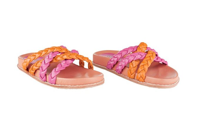 Birken Trança Laranja e Pink