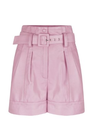 Shorts com Cinto Rosa