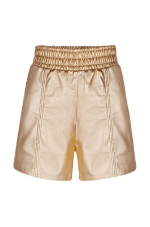 Shorts Elástico Cós Ouro Metalizado