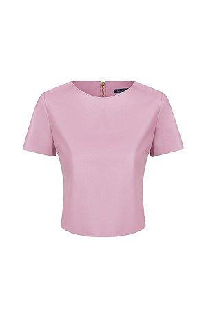 Camiseta Cropped Rosa