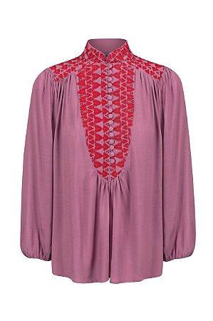 Camisa Bordada  Rose