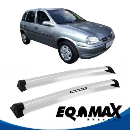 Rack Eqmax Chevrolet Corsa Wind/Super Hatch 4 Pts Wave 94/01 prata