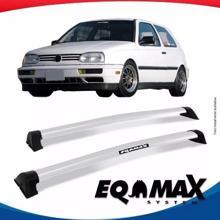 Rack Eqmax VW Golf G3 2 Portas Wave 94/98 Prata