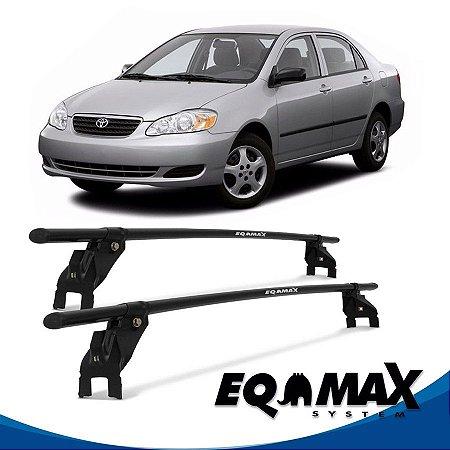 Rack Aço Teto Eqmax Toyota Corolla 4 Pts 96/15 fixação na porta.