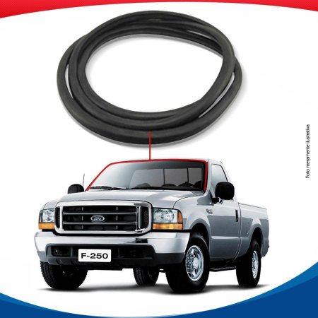 Borracha Superior e Lateral Parabrisa Ford F-250 S/ Ferragem 99/15