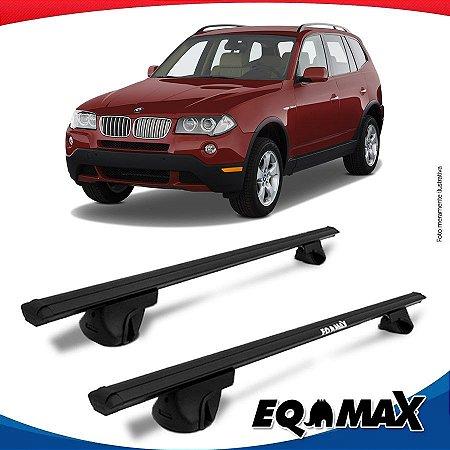 Rack Teto Alpha Aluminio Preto BMW X3 03/09