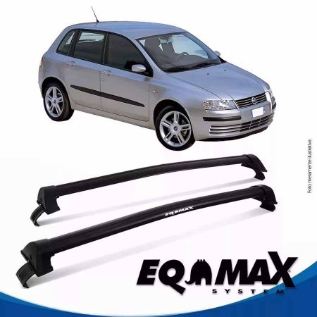 Rack Eqmax New Wave Fiat Stilo sem sapata 03/12 prata