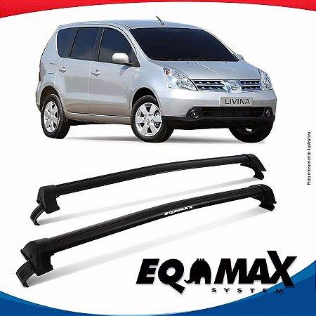 Rack Eqmax Nissan Livina sem longarina New Wave 10/14 Preto