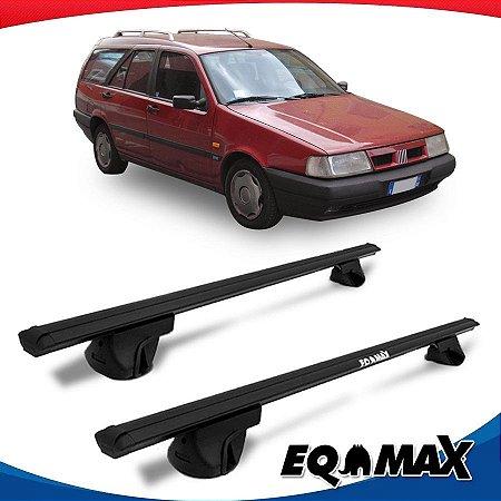 Rack Teto Alpha Aluminio Preto Fiat Tempra Wagon 95/97