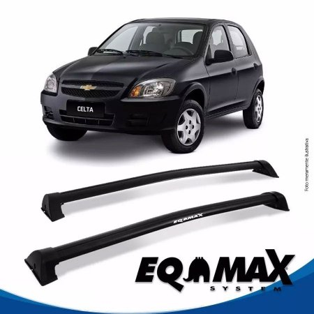 Rack Eqmax Chevrolet Celta 4 Pts Wave 00/11 preto