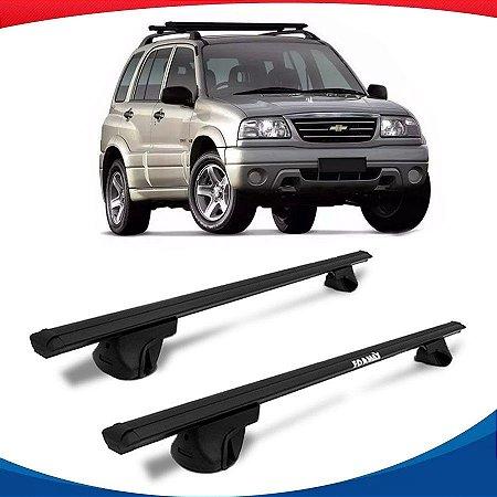 Rack Teto Alpha Aluminio Preto Chevrolet Tracker 99/14