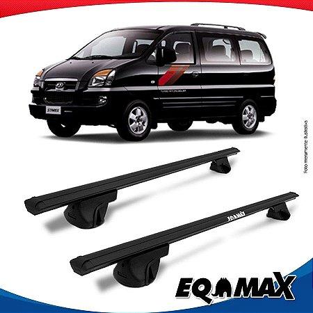 Rack Teto Alpha Aluminio Preto Hyundai Starex MPV 97/04