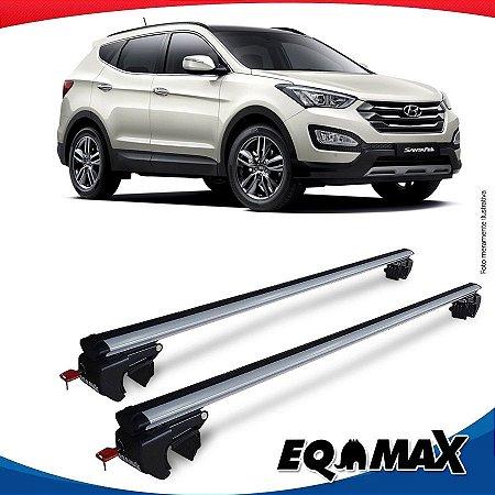 Rack Teto Sigma Aluminio Prata Hyundai Santa Fe 01/13