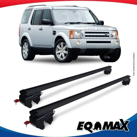 Rack Teto Sigma Aluminio Preto Land Rover Discovery 04/09