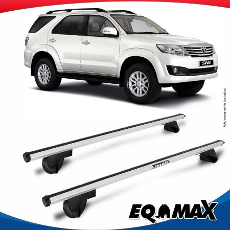 Rack Teto Alpha Aluminio Prata Toyota Hilux SW4 06/14
