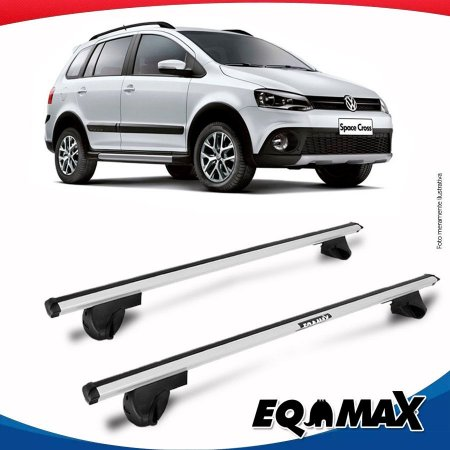 Rack Teto Alpha Aluminio Prata Volkswagen Space Cross 12/15