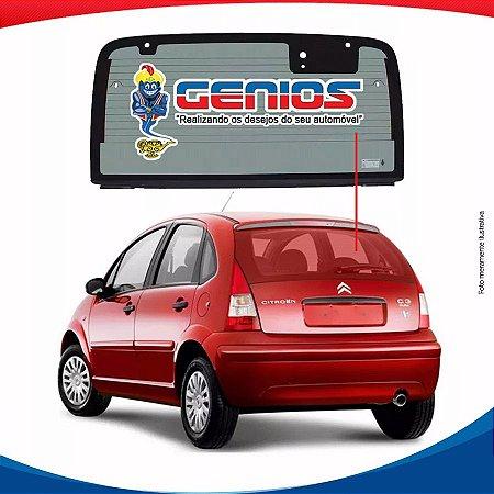 Vigia Térmico Citroen C3 01/12 Vidro Traseiro Com Furo