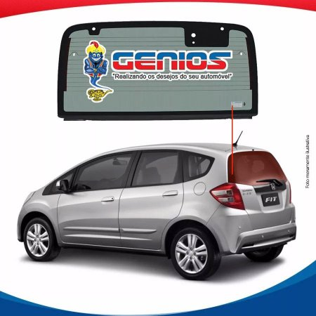 Vigia Térmico Honda New Fit 09/14 Vidro Traseiro Com Break Light