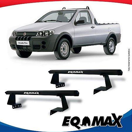 Rack Eqmax para Caçamba Fiat Strada Aluminio Preto