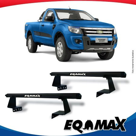 Rack Eqmax para Caçamba Ford Ranger Cabine Simples 13/16 Aluminio Preto