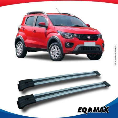 Big Travessa Larga Para Longarina Fiat Mobi Way Prata