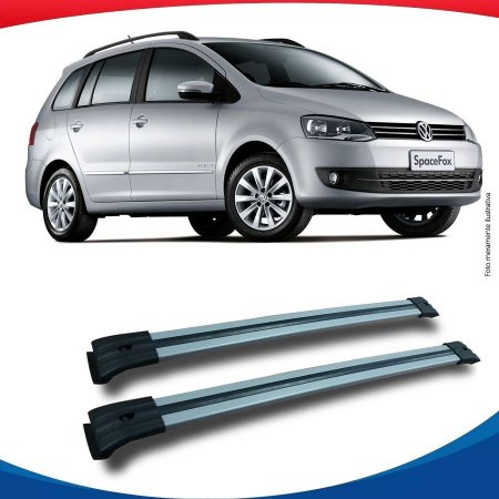 Big Travessa Larga Volkswagen Space Fox Com Longarina Prata