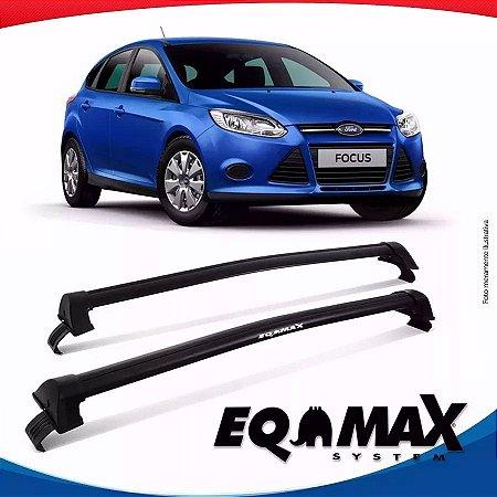 Rack Teto Eqmax New Wave Ford Focus Hatch 14/16 Prata