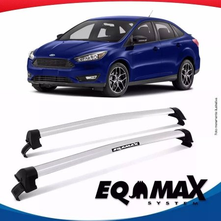 Rack Teto Eqmax New Wave Ford Focus Sedan 14/16 Prata