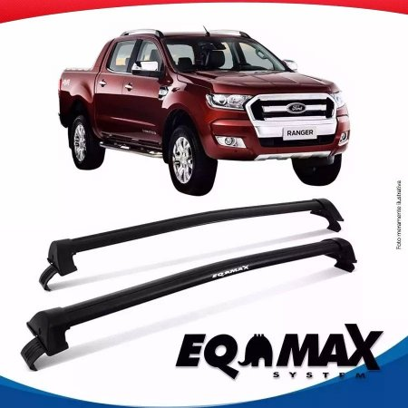 Rack Teto Eqmax New Wave Ford Ranger Cab Dupla 15/16 Preto