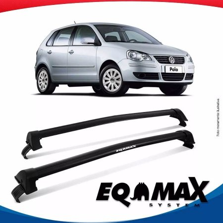 Rack Teto Eqmax New Wave Vw Polo Hatch 4 portas 03/14 Preto