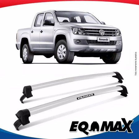 Rack Teto Eqmax Wave Volkswagen Amarok 4 Portas 13/16 Prata