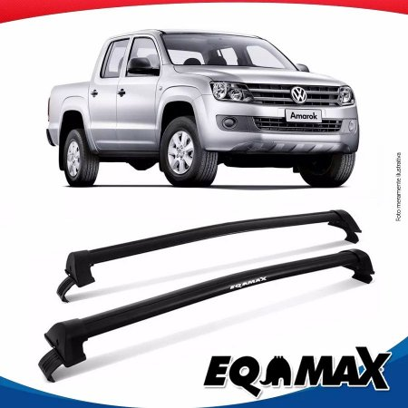 Rack Teto Eqmax Wave Volkswagen Amarok 4 Portas 13/16 Preto