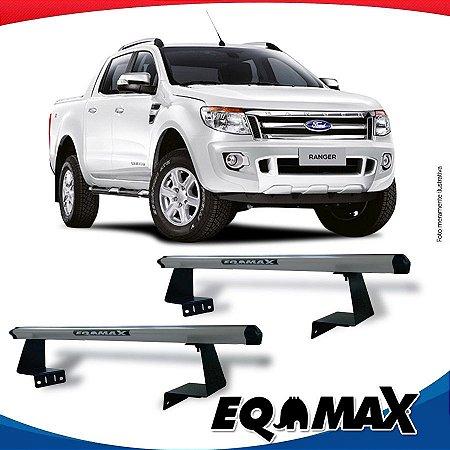 Rack Eqmax para Caçamba Ford Ranger Cabine Dupla 13/16 Aluminio Prata