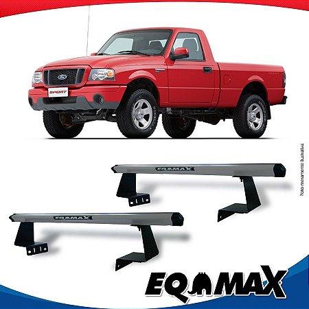 Rack Eqmax para Caçamba Ford Ranger Cabine Simples 96/11 Aluminio Prata