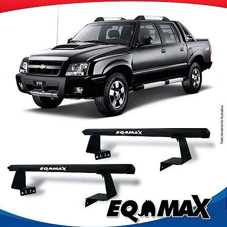 Rack Eqmax para Caçamba Chevrolet S10 Cabine Dupla 94/11 Aluminio Preto