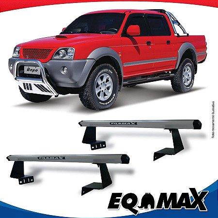 Rack Eqmax para Caçamba Mitsubishi L200 Sport Aluminio Prata