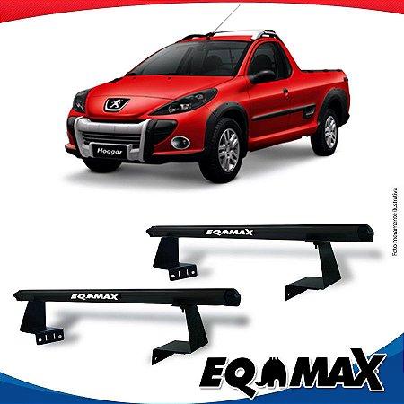 Rack Eqmax para Caçamba Peugeot Hoggar Aluminio Preto