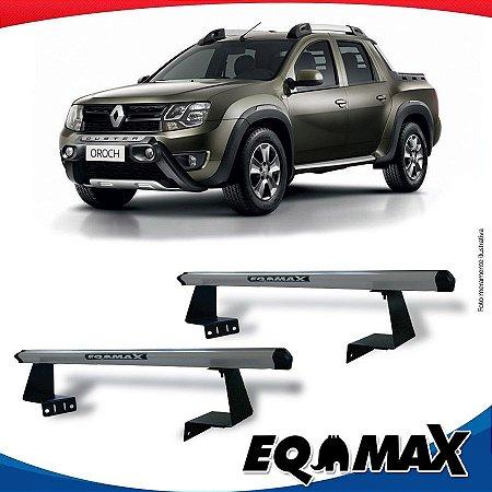 Rack Eqmax para Caçamba Renault Oroch Aluminio Prata