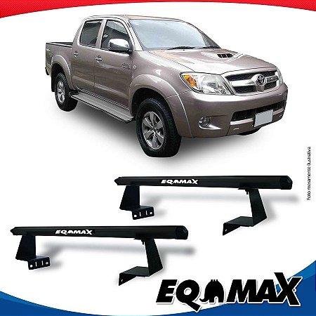 Rack Eqmax para Caçamba Toyota Hilux 05/15 Aluminio Preto