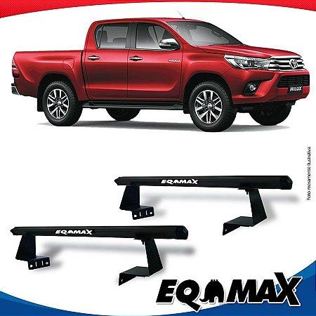 Rack Eqmax para Caçamba Toyota Hilux 16/... Aluminio Preto