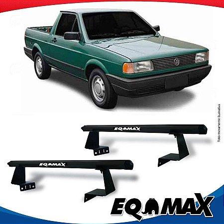 Rack Eqmax para Caçamba Volkswagen Saveiro Quadrada Aluminio Preto