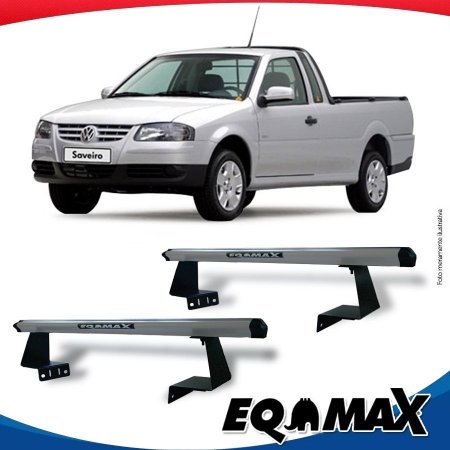 Rack Eqmax para Caçamba Volkswagen Saveiro  G4 06/08 Aluminio Prata