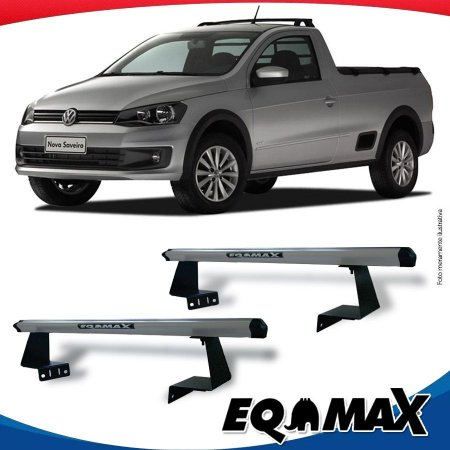 Rack Eqmax para Caçamba Volkswagen Saveiro G6 13/.. Aluminio Prata