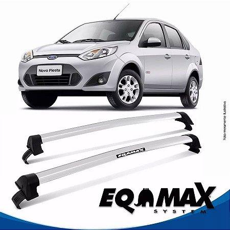 Rack Teto Eqmax New Wave Fiesta Sedan Rocan 03/16 Prata