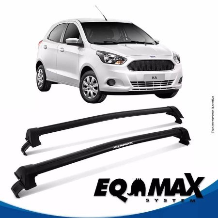 Rack Teto Eqmax New Wave Novo Ford Ka Hatch 15/17 Preto