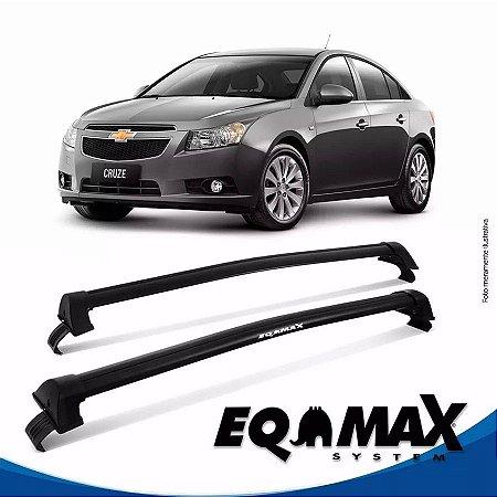 Rack Teto Eqmax New Wave Chevrolet Cruze Sedan 12/14 Preto