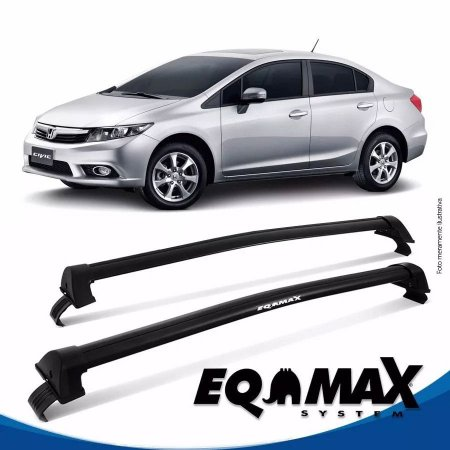 Rack Teto Eqmax New Wave Honda Civic 13/15 Bagageiro Preto