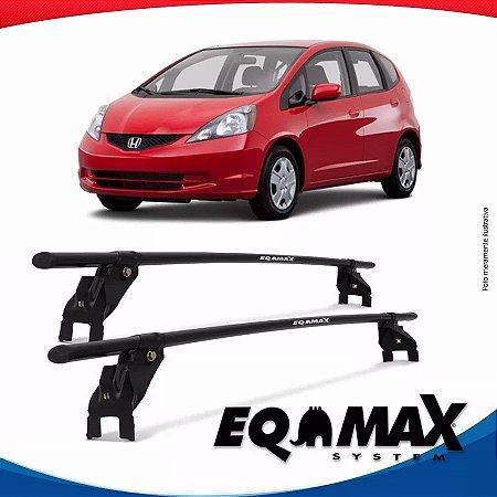 Rack Aço Teto Eqmax Honda Fit 09/13 Fixação Porta